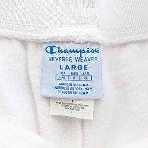 Champion Pants & Jumpsuits - Champion Reverse Weave Graphic Joggers White